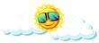 Fun sun with sunglasses