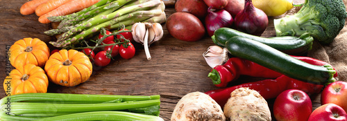 Various raw vegetables