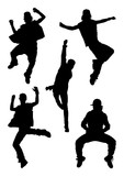Dancer performance silhouette. Good use for symbol, logo, web icon, mascot, sign, or any design you want. - 230946724