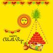 Leinwanddruck Bild - Happy Chhath Puja.