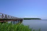 A big bridge over the jusan lake in Aomori prefecture. - 230961155