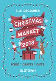 Vector Christmas Market poster template - 230966161