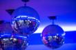 Leinwandbild Motiv Disco balls.night party background photo
