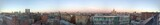 view of the Moscow city panorama Krasnaya Presnya evening