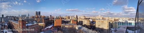 panorama of factory Rassvet Moscow winter - 230985919
