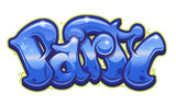 Party word in graffiti style - 230992310