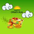 Leinwandbild Motiv Happy Chhath Puja.