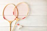 Badminton rackets and shuttlecock - 231007772