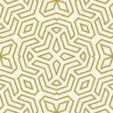 Seamless background for your designs. Modern vector ornament. Geometric abstract golden pattern - 231016311