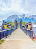 Canmore Engine Bridge Spur Line Trail Over Bow River - 231016364