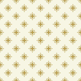 Floral vector ornament. Seamless abstract classic background with flowers. Pattern with golden repeating floral elements. Ornament for fabric, wallpaper and packaging - 231016758