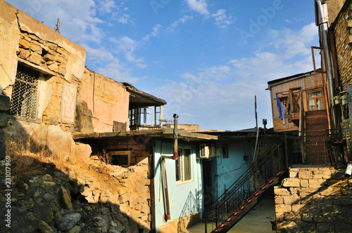 Old Houses And Yards Leaving Baku