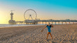 Leinwanddruck Bild - Scheveningen Pier, den Haag,  scheveningen beach