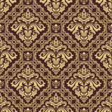 Orient vector classic pattern. Seamless abstract background with vintage elements. Orient brown an golden background. Ornament for wallpaper and packaging - 231019115