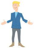 funny young businessman cartoon character - 231032523