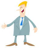 cartoon man or businessman in suit - 231032538