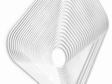 abstract white gray geometric background, set of curved architectural elements, 3D rendering, Volumetric relief design. - 231047934