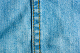 Blue washed faded jeans texture with seams - 231049314
