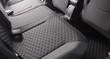 Clean black car seats