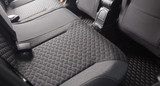 Clean black car seats