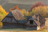 A Stable in the Mountains in Mid-Autumn - 231069713