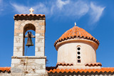 Detail of architecture church in Vathia town, Mani Greece. - 231110529