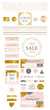 Blog Kit Branding. Website Elements and Icons. Blog Brand Indentity