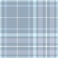 Seamless plaid pattern in shades of weathered blue. © Anya D