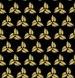 Seamless golden ornament. Modern background. Geometric modern pattern - 231121110