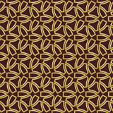 Seamless background for your designs. Modern brown and golden ornament. Geometric abstract pattern - 231122365