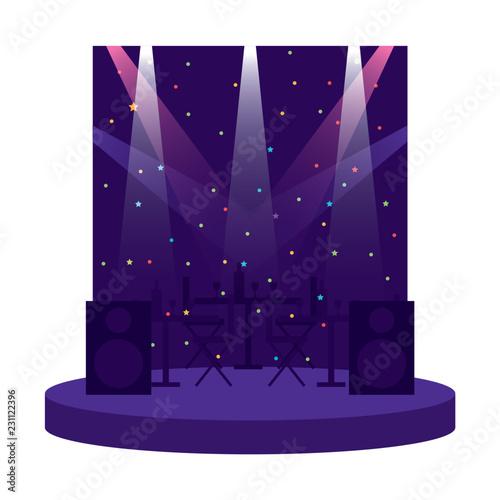 disco scene with speakers - 231122396