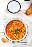 Traditional italian dish «pasta e ceci» - 231131782