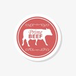 Prime Beef Butcher Shop sticker