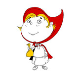 Little Red Riding Hood children illustration