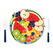 Salad From Fruit and Berries - 231138325