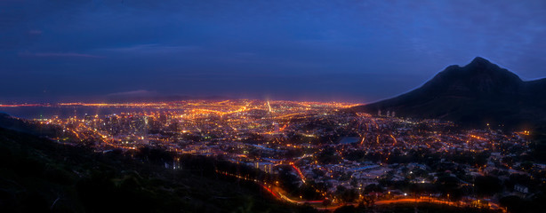 Cape Town City At Sunset And Blue Hour © CarmenRay