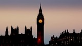 View of the Westminster Bridge at night and Big Ben in London. - 231148775