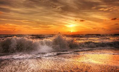 sunset over field © Stanislav