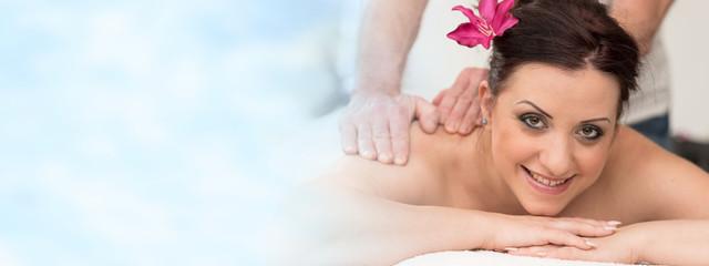 Beautiful young woman getting massage © thodonal
