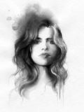 beautiful woman. fashion illustration. watercolor painting - 231173365