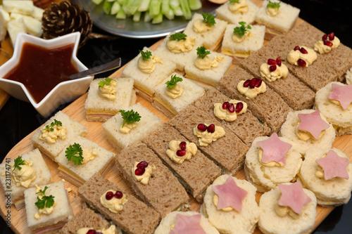 Foto Murales Tasty Afternoon Tea Sandwich Platter
