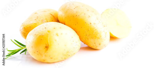 New potato isolated on the white background