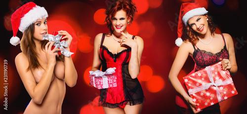 fototapeta na ścianę erotic Christmas Gift - collection