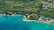 Aerial picture of Cap Malheureux Bay