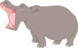 funny cartoon hippopotamus animal character - 231218555