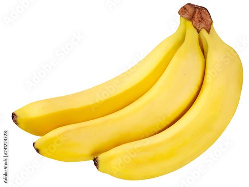 Leinwandbild Motiv THREE BANANAS ON WHITE