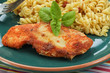 fried chicken with rice and vegetables - 231226149