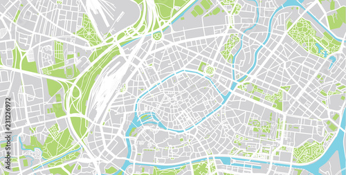 Urban vector city map of Strasbourg, France | Buy Photos | AP Images ...