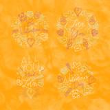 Valentine's day flat monograms yellow - 231228545