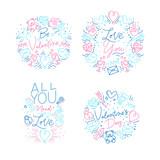Valentine's day monograms flat - 231228590